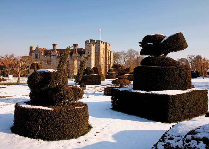 Hever Castle winter