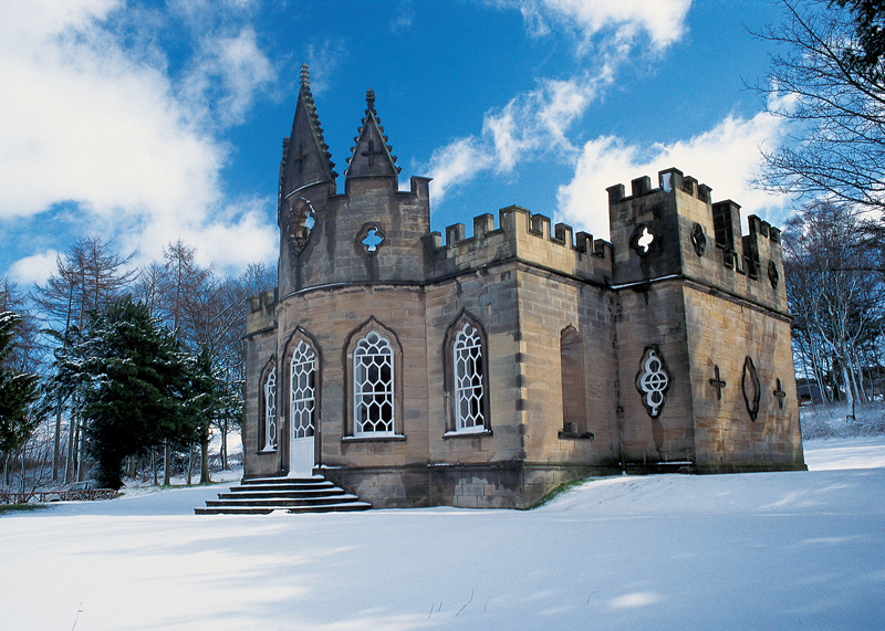 The Banqueting House Gibside winter