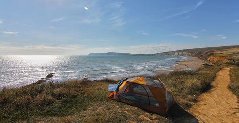 Camping on Grange Farm, Isle of Wight