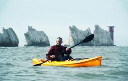 Kayak around The Needles rocks and lighthouse