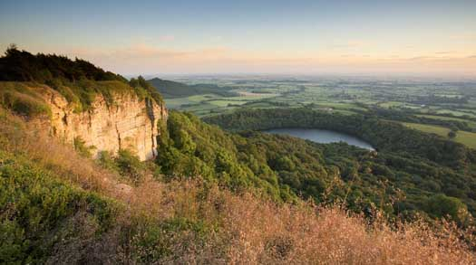 "Soak up ""England's finest"" view at Sutton Bank"