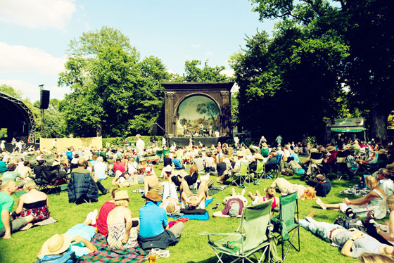 Larmer Tree's Garden Stage is over 100 years old!
