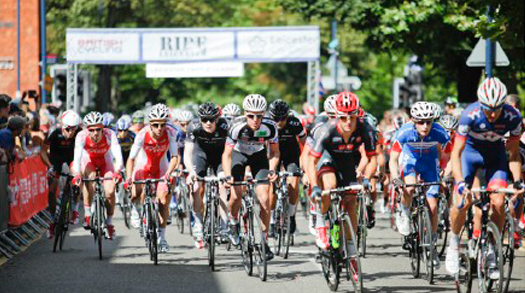 Watch Britain's top cycling teams race around Leicester