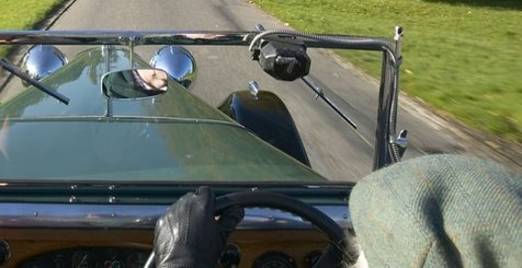 Driving classic cars in England