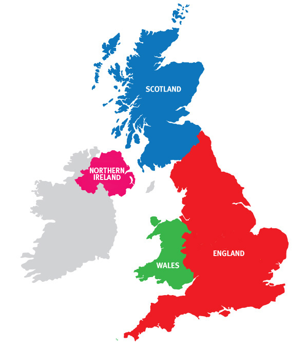 Map Of Uk Showing 4 Countries.Why Should You Visit The Uk Visitengland