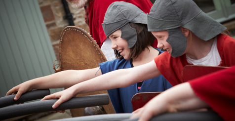 Children in Roman costume at Lanercost, Hadrian's Wall