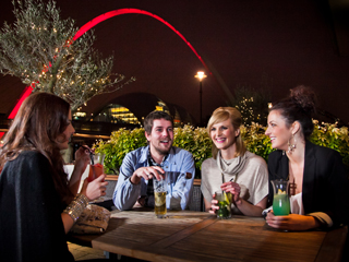 A group of people on a night out in NewcastleGateshead
