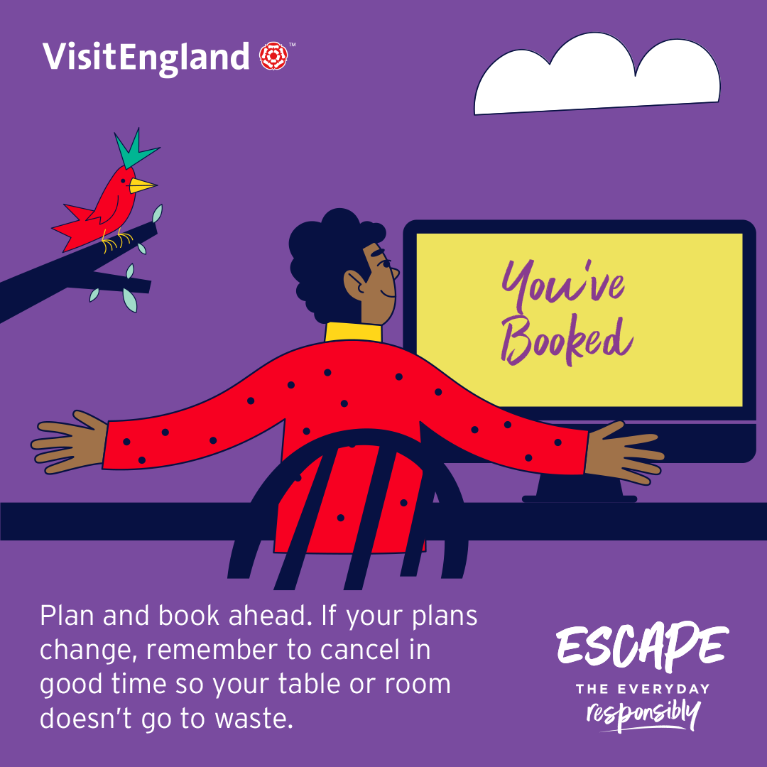 Infographic for plan ahead Escape the Everyday Responsibly