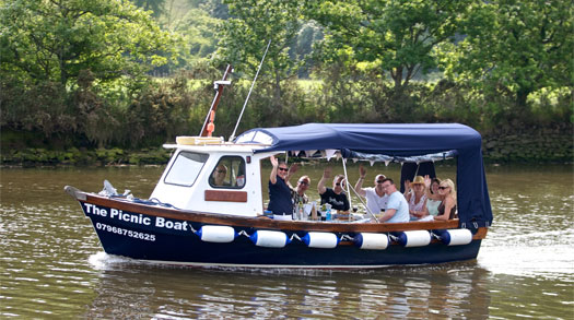 Picnic Boat on the River Dart