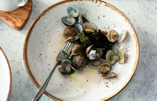 A plate of mussels at The Salt Room, Brighton