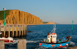 Explore the West Bay coastline as seen on TV's Broadchurch