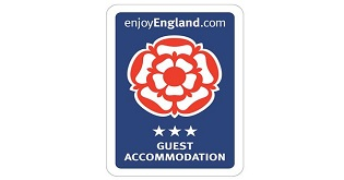 VisitEngland 3 star Guest Accommodation star rating logo
