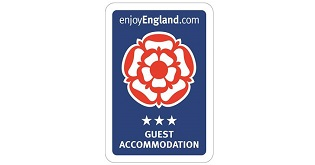 A VisitEngland 3 star Guest Accommodation sign.