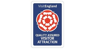 A VisitEngland sign for a quality-assessed attraction.
