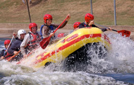 Hit the white water at the National Water Sports Centre