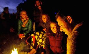 Camping at Highertown Campsite, Lansallos, Cornwall