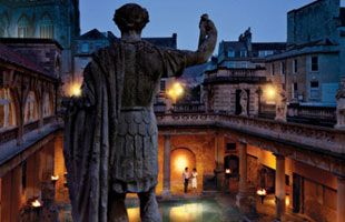 Roman Baths by candlelight