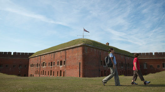 Discover spooky tunnels at the Royal Armouries Fort Nelson