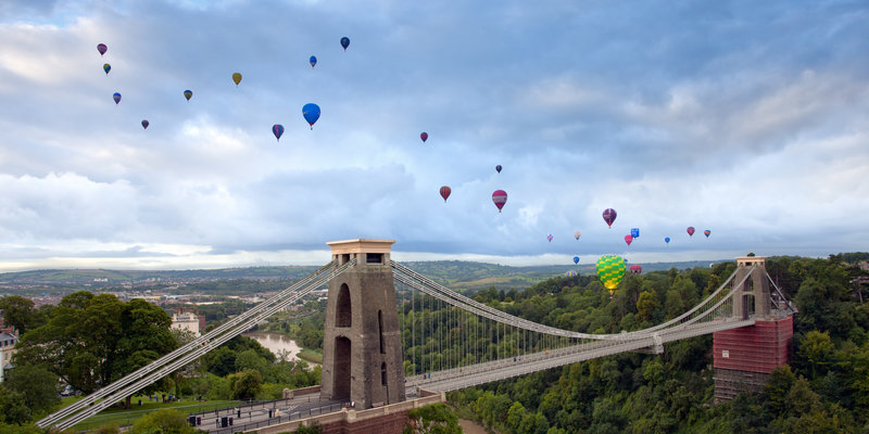 Balloons over the Suspension Bridge, Bristol