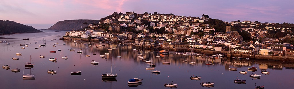 Salcombe Bay is a seaside town and protected mooring on the south coast, in Devon