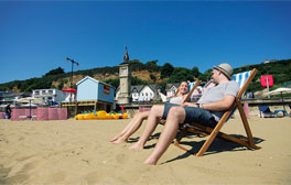 Deckchairs, pirates and runaway trains at Shanklin seafront