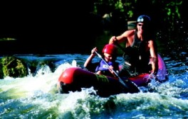 Enjoy an exhilarating white water adventure on the river Wye