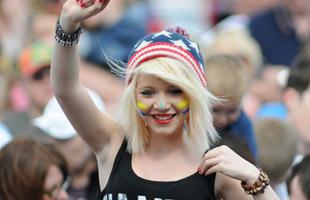 A festival goer at the South Tyneside Festival