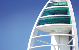Enjoy really high tea at the Spinnaker Tower