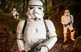 Star Wars Storm Troopers in the Forest of Dean