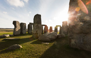 View of Stonehenge in Wiltshire
