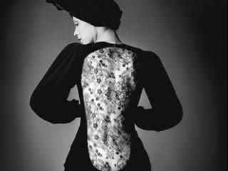 Marina Schiano wearing short evening dress from Fall-Winter 1970 collection