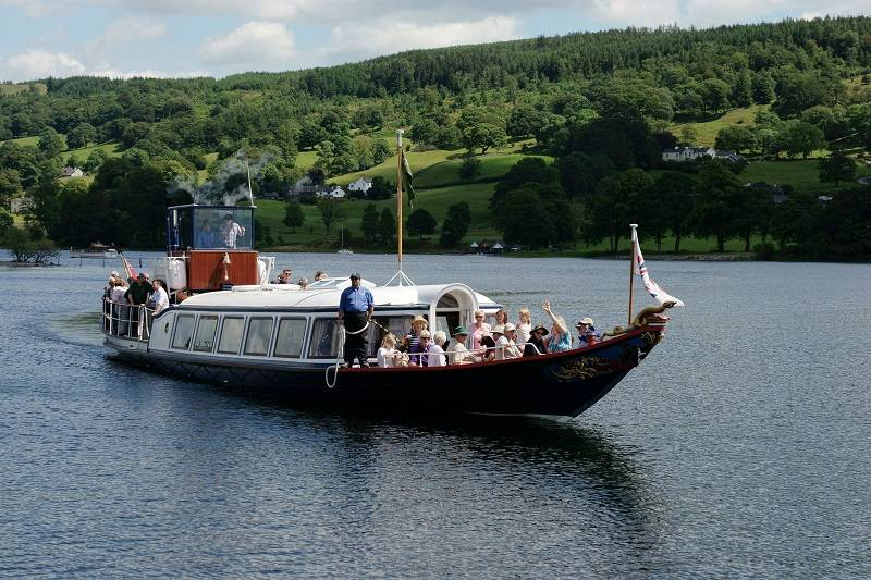 Steam Yacht Gondola in Cumbria