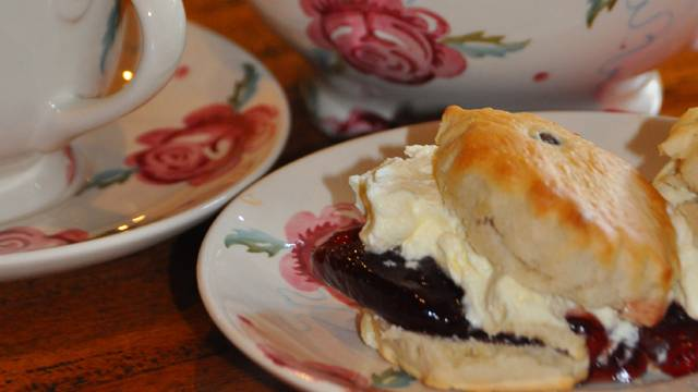Cream tea at Ponden Hall, West Yorkshire