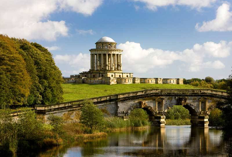 Castle Howard Mausoleum and New River Bridge.