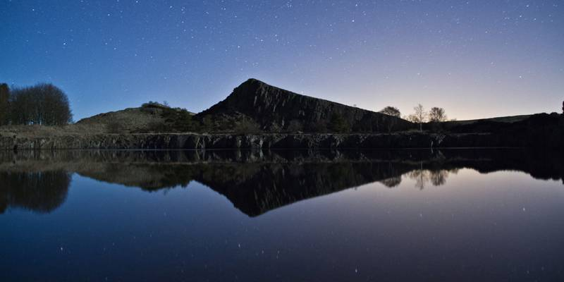 Cawfields at night