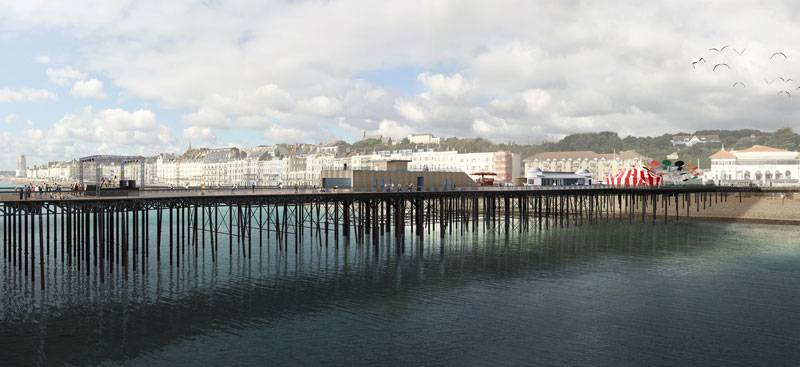 A CGI of the new Hastings Pier