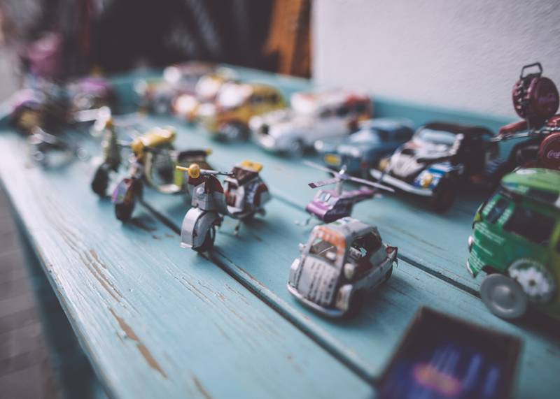 Tiny toys at Dreamland Vintage Market, Margate, Kent