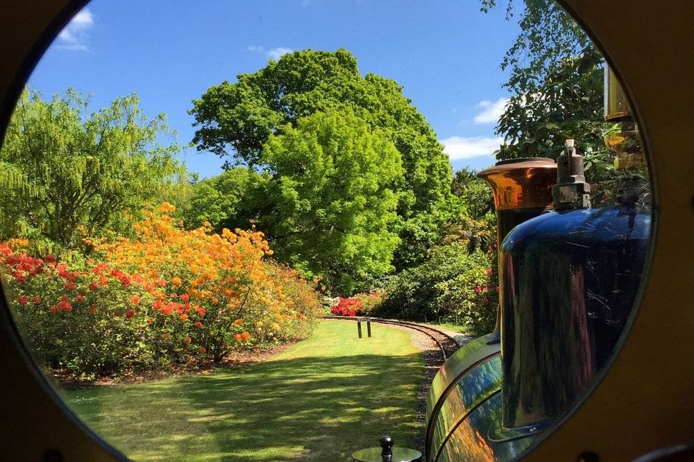 Exbury Gardens, View from the Steam Train