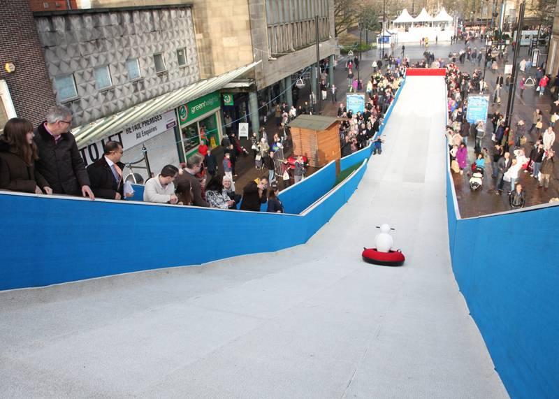 Snow slide at the Bolton Winter Festival
