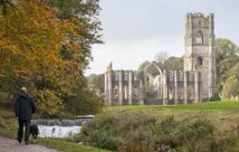 Fountains Abbey and Studley Royal Water Garden - North Yorkshire (c)National Trust Images, Chris Lacey 264x168