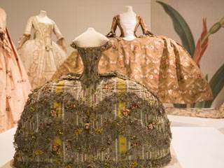 Mantuas on show at the Georgians exhibition at Bath Fashion Museum