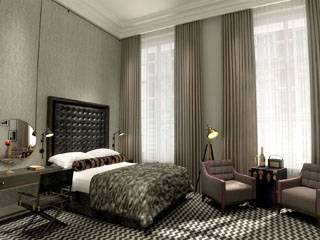 Guest room in Hotel Gotham, Manchester
