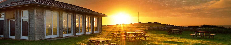 Guardhouse Cafe at sunset © Chris Slack Photography