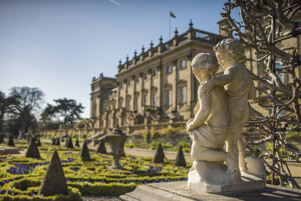 See where itv s victoria was filmed visitengland for Harewood house garden design