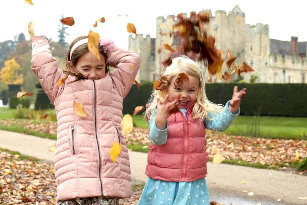 Kids Enjoying Hever Castle's Autumn Walk