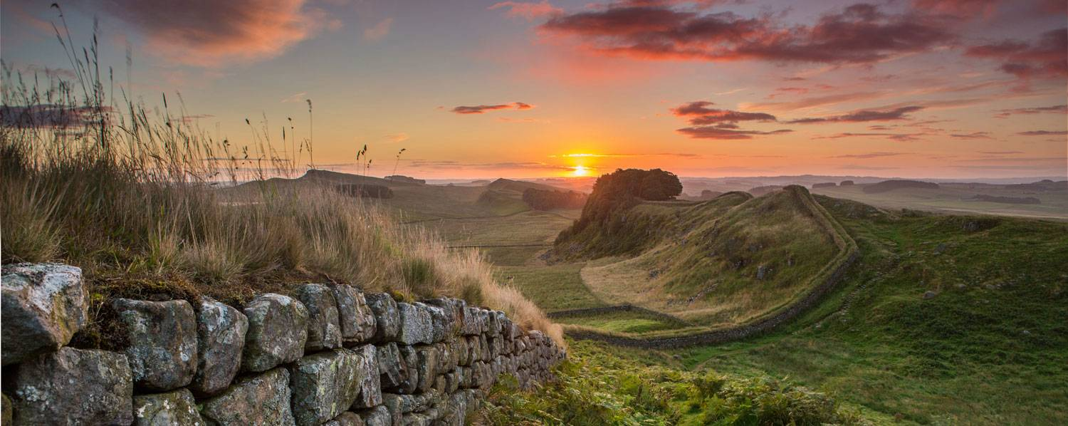 Hadrian's Wall in Northumberland