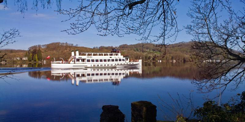 Historic steamer on Lake Windermere