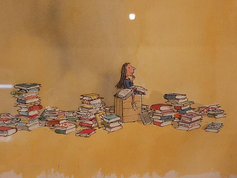 Drawing of Matilda by Quentin Blake