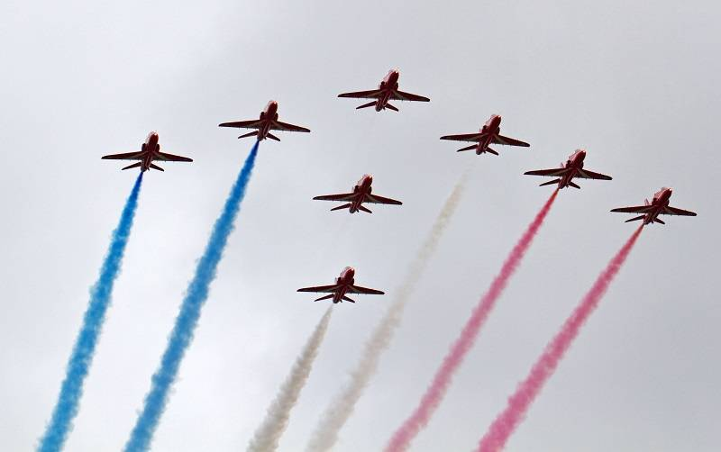 Red Arrows at Cosford Airshow