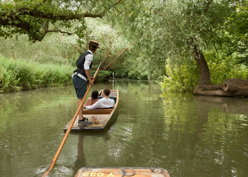 Punting on the River Cam, Cambridgeshire
